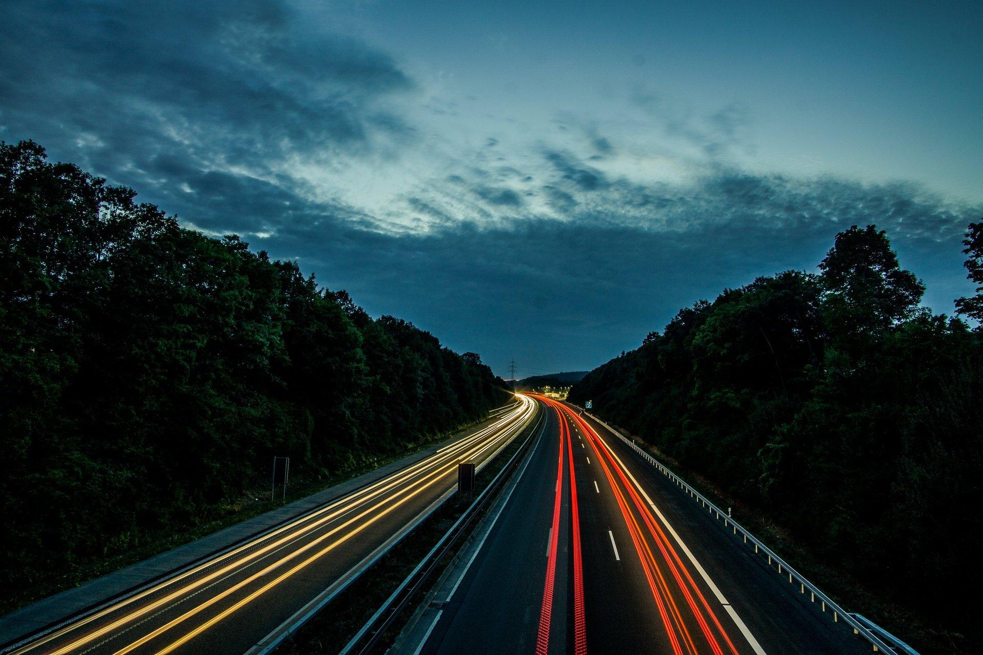 sky night cars fast